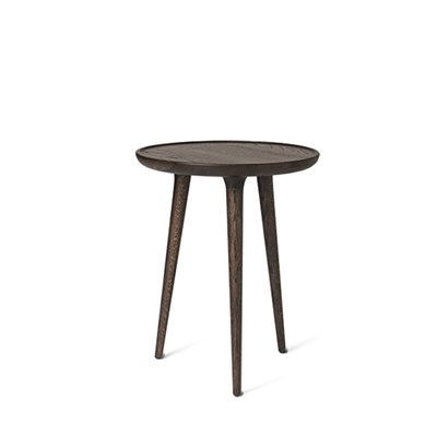 petite table haute finition brune. Black Bedroom Furniture Sets. Home Design Ideas