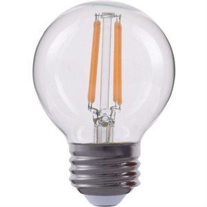 Ampoule DEL filamenté format G16, 4,5 watts, 2700K