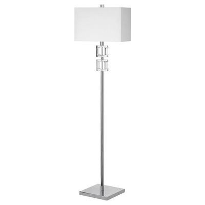 Lampe de plancher, finition chrome poli, 1 X A19