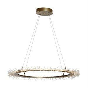 Luminaire suspendu DEL, finition or, 50 watts, 3000K