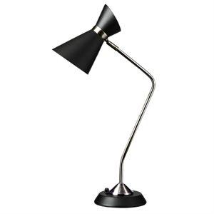 Lampe de lecture, finition noir mat, 1 X A19