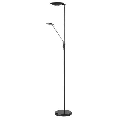 Lampe de plancher, DEL, finition noire, 33 watts, 3000K