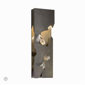 Luminaire mural DEL, finition fumé noire et crystal, 3 watts, 3000K