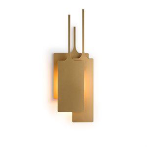 Luminaire mural, finition or, 1 X CA10