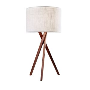 Lampe de table, finition blanc bois, 1 X A19