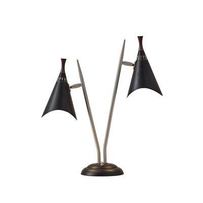 Lampe de table, finition noire, 2 X A19