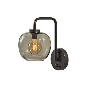 Wall light, black finish, 1 X A19