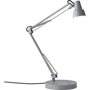 Lampe de table, DEL, finition grise, 7 watts, 3000K