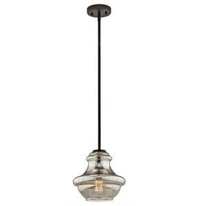 Luminaire suspendu, finition bronze, 1X A19