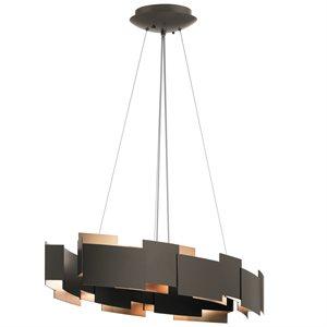 Luminaire suspendu, DEL, finition vieux bronze, 2650K