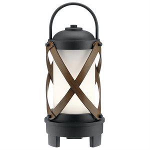 Lampe de table avec haut-parleur bluetooth, DEL, finition noire, 3000K