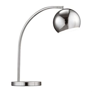 Lampe de table, finition chrome, 1 X G16.5