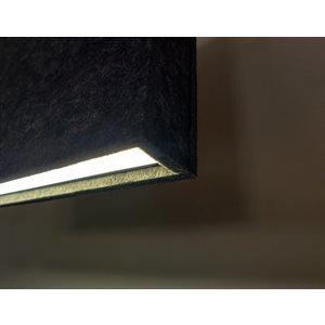 Luminaire linéaire suspendu DEL, 8 pieds, 2700K, finition feutre noir