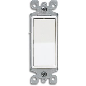 Interrupteur decora 120V blanc Leviton
