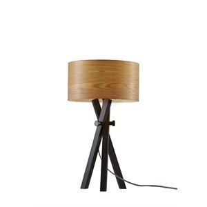 Lampe de table, finition noir bois, 1 X A19