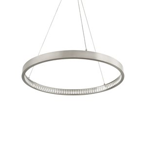 Luminaire suspendu, DEL, finition nickel satiné, 32 watts, 3000K