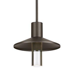 Luminaire suspendu extérieur DEL, finition bronze, 18 watts, 3000K