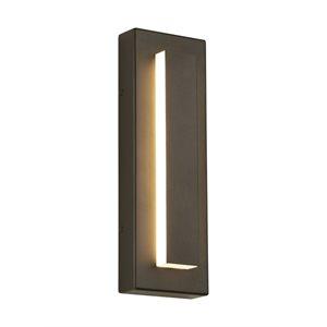 LED exterior wall light, bronze finish, 22 watts, 3000K