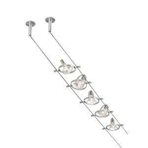 Luminaire sur rail DEL, finition nickel mat, 20 watts, couleur ajustable