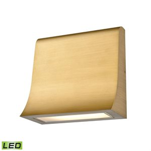 LED wall light, antic bronze finish with integrated LED, 9 watts, 3000K