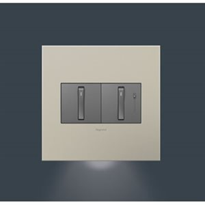 Guiding-lamp finition double plate