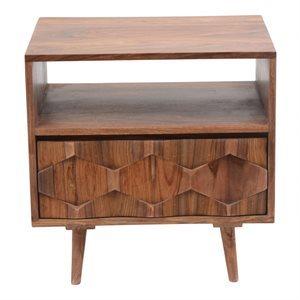 Table de chevet en bois de sheesham