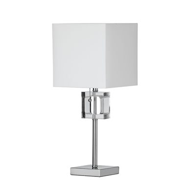 Lampa de table, finition chrome poli, 1 X A19