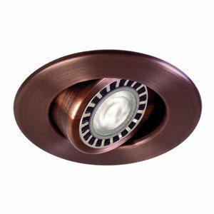 Finition bronze, ronde, orientable, 1X PAR20