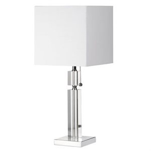Lampe de table, finition chrome poli, 1 X A19