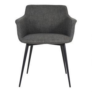 Chaise, finition gris foncé