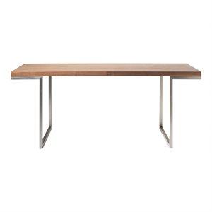 Table de salle à manger en acier inoxydable