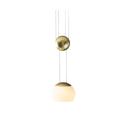 Luminaire suspendu DEL, finition laiton, 8,2 watts, 2700K