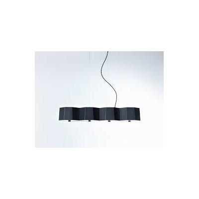Luminaire suspendu, finition noire, 4 X A19