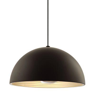 Luminaire suspendu, finition noire, 1 X A19
