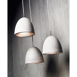 Luminaire suspendu, finition gris béton, 1 X A19
