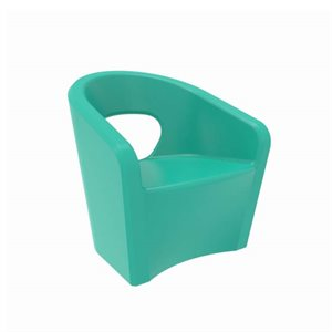 Exterior chair, turquoise finish