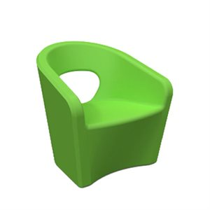 Exterior chair, green apple finish