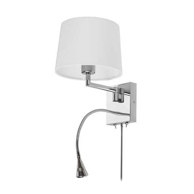Lampe de lecture mural DEL, finition chrome, 3 watts, 3000K / 1 X A19