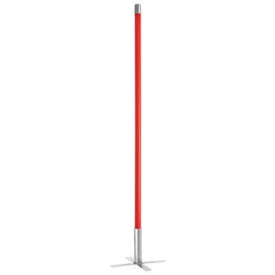 Lampe de plancher, bâton fluorescent lumineux, finition rouge, 1 X culot T8